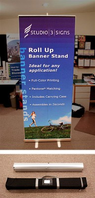 roll up 200 banner stand (carrying case included)
