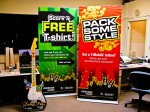 "36"" x 84"" roll up banner stands"