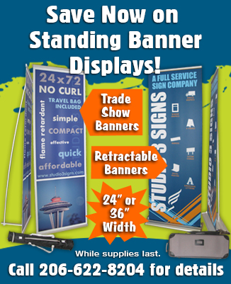 Studio 3 Signs Standing Banner Ad