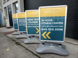 Set of Four WindFrame Signs with Full Color Corrugated Plastic Inserts