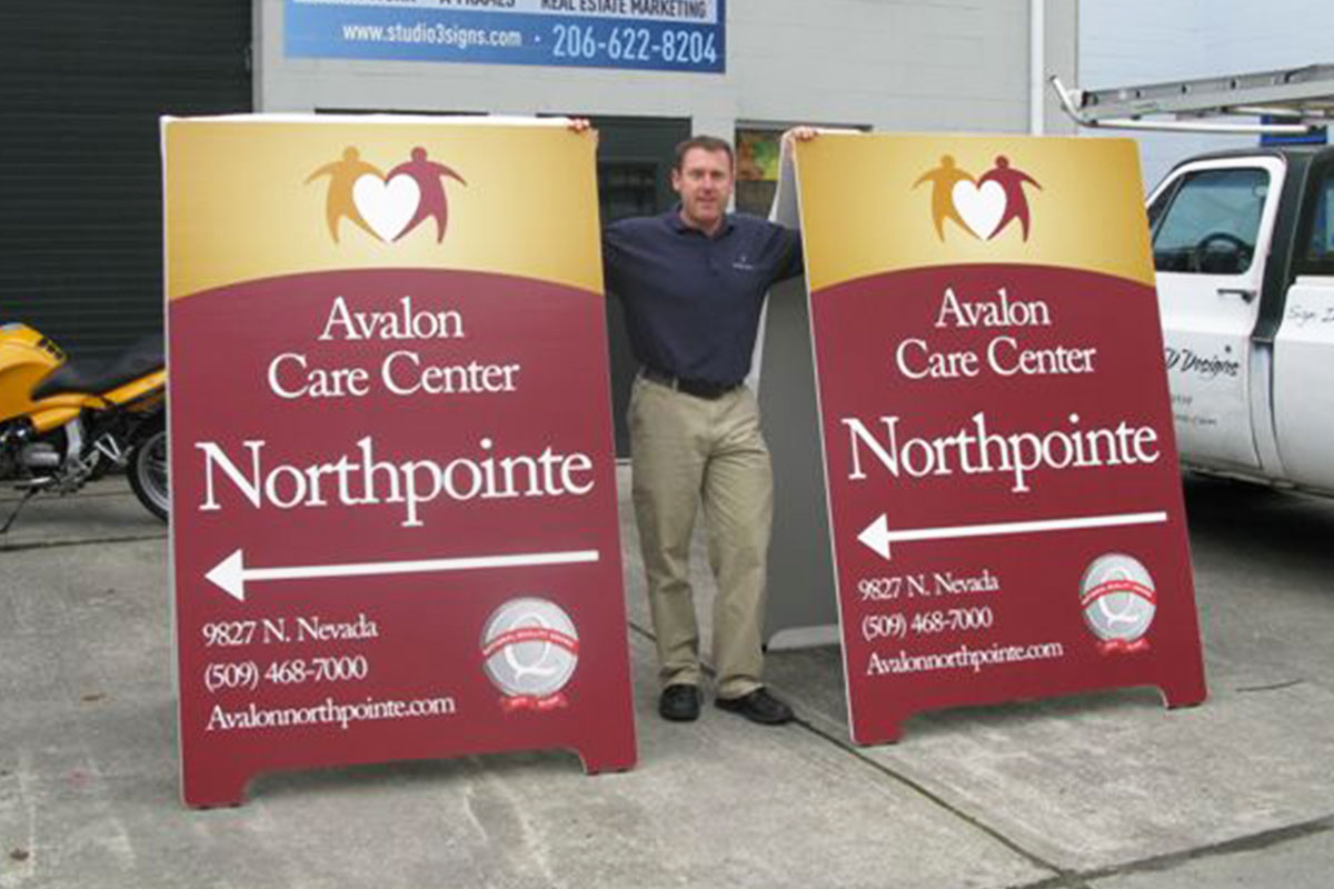 Seattle A-Frame Signs and Sandwich Boards | Studio 3 Signs
